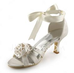 Wedding Shoes -  Satin Stiletto Heel Sandals Wedding Shoes With Satin Flower (047005444) http://jjshouse.com/Satin-Stiletto-Heel-Sandals-Wedding-Shoes-With-Satin-Flower-047005444-g5444