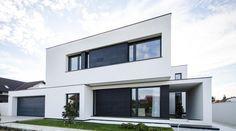 B & W color scheme Recessed windows and doors