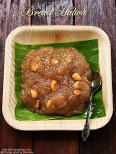 bread halwa recipe with sugar syrup.bread halwa recipe with bread ghee and sugar as main ingredients.how to make bread halwa recipe. Indian Dessert Recipes, Sweets Recipes, Snack Recipes, Cooking Recipes, Indian Sweets, Indian Recipes, Rice Recipes, Easy Desserts, Yummy Recipes