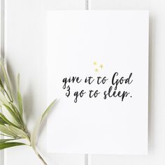Proverbs 3:24 - Give it to God and go to sleep - Scripture art - Bible verse - Illustrated verse - Verse calligraphy - Verses for women - Bible verse about worry - Bible verse for anxiety- Snow and company - She reads Truth