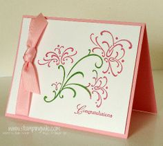 Pretty card made using a stamp set