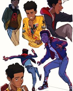 Drawing Marvel Miles Morales by ctchrysler -- go see into the spider-verse right now - Marvel Dc, Spiderman Kunst, Miles Morales Spiderman, Miles Spiderman, Poses, Spider Verse, Character Drawing, Character Design Inspiration, Comics
