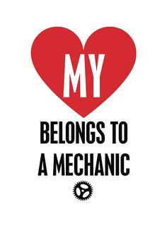 Amazon.com: My Heart Belongs To A Mechanic Print Picture Poster Mechanic Tool Wheel Wrench Gear Wall Decal Sign: Office Products