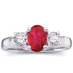 Ravishing Natural Top Gem Burma Ruby & Diamond 3 Stone Platinum Ring(4.5)