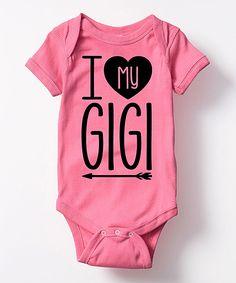 Raspberry Heart My Gigi Bodysuit - Infant