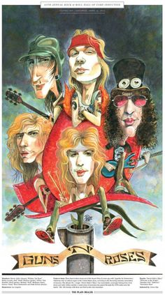 Guns 'N' Roses & Other Hall of Fame inductees