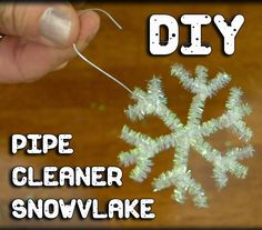 EasyMeWorld: 3 Easy Pipe Cleaner Christmas Ornaments - Snowflake Christmas Ornaments