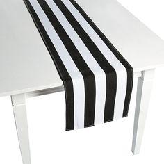Black+&+White+Striped+Table+Runner+-+OrientalTrading.com