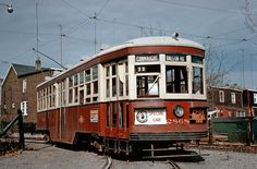 T310 Toronto TTC 2868 Trolley  1950's  DUPE 35mm train slide