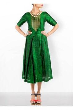 Green twin set