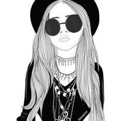 Image via We Heart It #art #drawing #glasses #grunge #pale #pretty