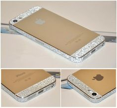 iPhone 5 5S 4 4S Full Body Skin Wrap Silver Luxury Glitter Sparkle Bling Color Sticker Protector NOT Case on Etsy, $7.86 CAD