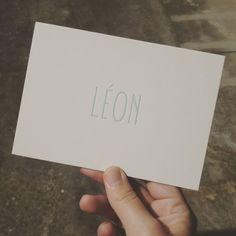 Dag Léon! #letterpress #geboortekaartje