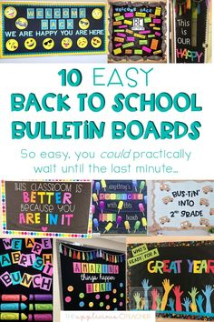 Running out of time and need some inspiration? These 10 simple back to school boards are cute and easy enough to complete in under 30 minutes! (No fancy machine required!)