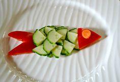 how to get kids to eat vegetables, veggie fish, creative vegetable ideas for kids, get kids to eat veggies, kids food art, fun food for kids...