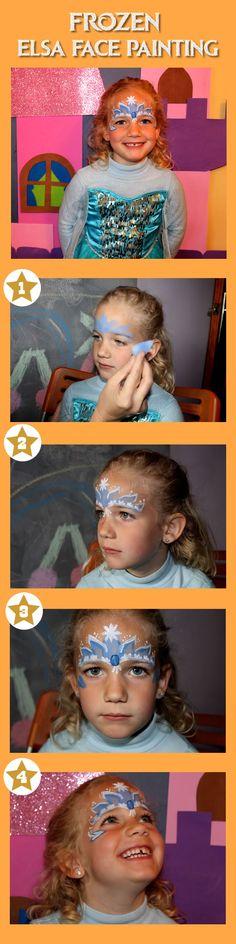 PIntar cara de Elsa Frozen #Frozen #FacePainting #FaceArt #Facepaint #Elsa                                                                                                                                                                                 Más