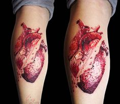 Broken Heart tattoo by Vlad Tokmenin