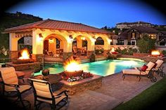 backyard ideas with pool | Backyard Landscape Design Ideas