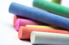Chalk can be so much fun! Would you like to know how to make it? Here's an easy and inexpensive way to keep your family supplied with chalk. Supplies Cardboard toilet-tissue tubes or plastic taper candle molds {available at craft stores} Masking tape Wax paper 1 1/2 cups plaster of paris 3/4 cup