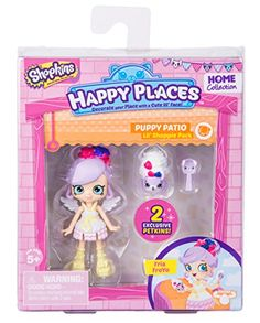 Shopkins Happy Places Series 1 Puppy Patio Lil' Shopping Pack - Daisy Petals Doll with Petkins Shoppies Dolls, Shopkins And Shoppies, Shopkins Season 2, Shopkins Happy Places, Toys Land, Daisy Petals, Doll Stands, Cute Toys, Blooming Flowers