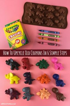 Do you find pieces of broken crayons scattered all around your house? I sure do! Find out how I upcycle them to make brand new crayons by clicking here: http://withlovefromlou.co.uk/2017/04/upcycle-old-crayons/