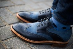 Clarks two-tone brogues