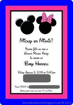 gender reveal invitation templates