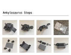 Free Lego Steps for Ankylosaurus part one of two