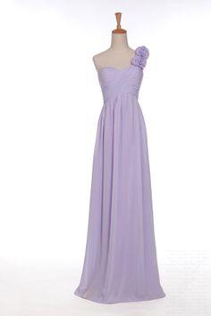 Custom A-line One-shoulder Sleeveless Floor-length Chiffon Flowers Fashion Prom Dress Bridesmaid Dress Formal Evening Dress Party Dress 2013