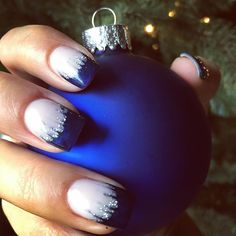 Give yourself an icicle manicure for the holidays with this nail art tutorial.