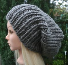 3ef87a9ba Excited to share the latest addition to my shop  Men s Slouchy Beanie  Women s Slouchy Beanie CHOOSE COLOUR Slouch hat Chunky knit winter hat Gift  for Him ...