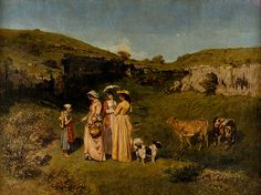 Gustave Courbet: Young Ladies of the Village (40.175) | Heilbrunn Timeline of Art History | The Metropolitan Museum of Art