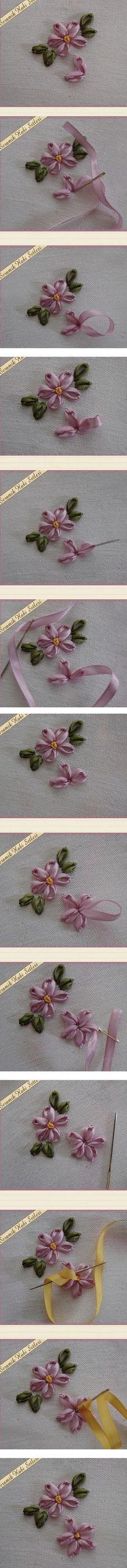 Dainty ribbonwork Daisy.