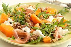 Carolines blog: Rucolasalade met meloen, Parmaham en mozzarella
