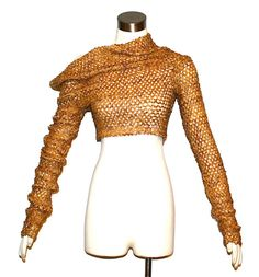 Vintage ROMEO GIGLI Sweater Sequins Midrif Cut Out by StatedStyle