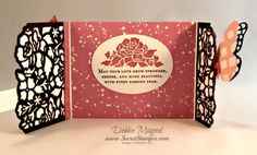 Floral Phrases, Detailed Floral Framelits, Butterflies, Wedding, Gate Fold, Stampin Up, Inside