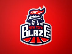 New York Blaze #logo by Lunatic Agency | American Logo Sport Theme