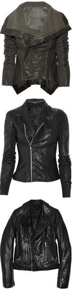 Black Leather Jackets :-)  LOVE LOVE