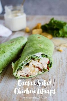 Caesar Salad Chicken Wraps Caesar Salad Chicken Wraps - Caesar Salad Chicken Wraps make a yummy lunch or dinner. Great for grabbing on the go, or sitting around the dinner table. Healthy Diet Recipes, Healthy Foods To Eat, Lunch Recipes, Healthy Eating, Dinner Recipes, Cooking Recipes, Sandwich Recipes, Zone Recipes, Diet Foods