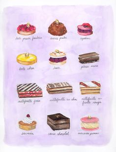 Marie Antoinette pastries and cakes