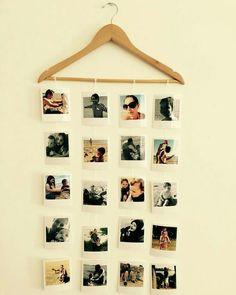 Mural fotos – Home decor Diy Wall Decor For Bedroom, Photo Wall Decor, Room Ideas Bedroom, Decor Room, Aesthetic Room Decor, Diy Home Crafts, Polaroid Wall, Polaroid Display, Wall Mural