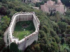 """The symbol of Asolo in Veneto, Italy. The fortress - in italian """"Rocca"""" - of Asolo."""