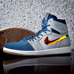 The Air Jordan 1 Retro High Nouveau Trainer is available now, online & in store. Nike Trainers, Mens Trainers, Nike Shoes, Sneakers Nike, Jordan 1 Retro High, Custom Shoes, Basketball Shoes, Nike Men, Air Jordans