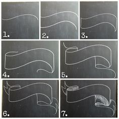 Tutorial for Drawing Chalkboard Banners [Fancy up yourself -- 12-05-14] Check out the website for more.                                                                                                                                                      Más