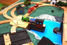 Lord Ashram's House of War: A wooden Thomas the Train table! Thomas The Train Table, Wooden Train, Poker Table, Trains, Lord, Mountain, Design, House, Home Decor
