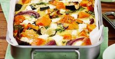 Method: Toss pumpkin, zucchini and onion in prepared baking dish with oil, season to taste and spread out. Bake for 15-20 minutes, or until vegetables are golden and tender.
