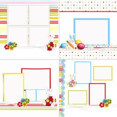 #Easter is only 2 weeks away! Check out this adorable template from Blue Angel!