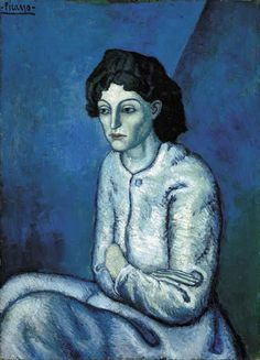 Pablo Picasso - Femme aux Bras Croisés, 1902 BTW, be sure to also visit: http://universalthroughput.imobileappsys.com/