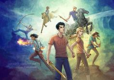 Annabeth, Piper, Hazel, Leo, Franck, Jason, Percy, Scipion et Arion !!!!