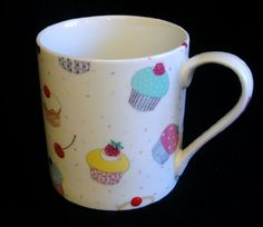 Heron Cross Pottery Large 1 Pint Mug in Cup Cake Motif by The China Street Heron, Pottery, China, Dishes, Mugs, Amazon, Street, Tableware, Cake